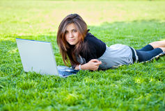 Woman in summer park Stock Image
