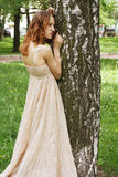 Woman in summer park Royalty Free Stock Images
