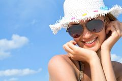 Woman in summer Stock Photos