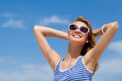 Woman in summer Royalty Free Stock Photos
