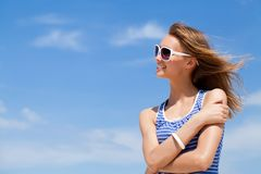 Woman in summer Royalty Free Stock Image