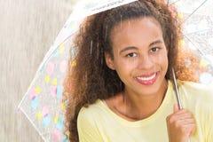 Woman and summer rain Stock Photography