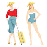 Woman on summer vacation Royalty Free Stock Photography