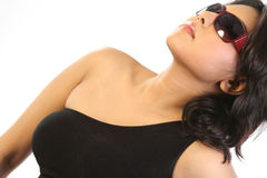 Woman with sun glasses Stock Photo