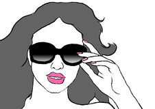 Woman with sun glasses Royalty Free Stock Photo