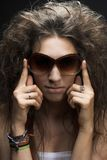 Woman in sun glasses Stock Photography