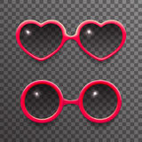 Woman sun glasses stylish  3d realistic fashion mockup transparent background design vector illustration Royalty Free Stock Photos
