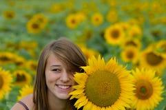 Woman sun-two Royalty Free Stock Image
