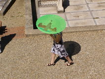 Woman with sun umbrella Royalty Free Stock Images