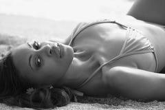 Woman Sunbathing Stock Image