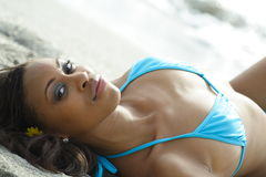 Woman Sunbathing Stock Photography