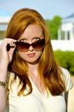 Woman in Sunglasses Stock Image
