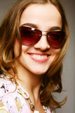 Woman with sunglasses Stock Photography