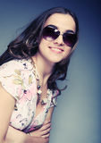 Woman with sunglasses Stock Images