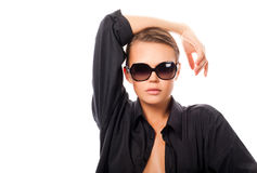 Woman in sunglasses Stock Photos