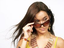 Woman sunglasses. Royalty Free Stock Images