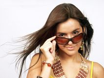Woman sunglasses. Royalty Free Stock Image