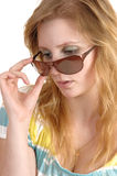 Woman with sunglasses. royalty free stock photo
