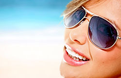 Woman with sunglasses Royalty Free Stock Photos