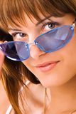 Woman with sunglasses Stock Image