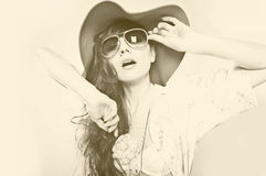 Woman in sunglasses. Stock Photos