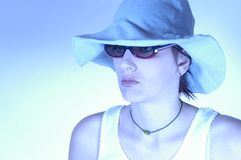 Woman with sunglasses royalty free stock photo