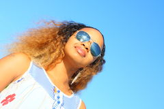 Woman with sunglasses Stock Photos