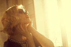 Woman in sunglasses. Royalty Free Stock Photography