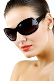 Woman in sunglasses glamour portrait. Stock Image