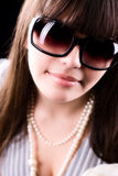Woman in sunglasses glamour portrait Stock Images