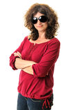 Woman sunglasses isolated Stock Photos