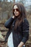 Woman in sunglasses - outdoor portrait Stock Photos