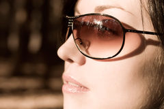 Woman in sunglasses portrait Stock Photography