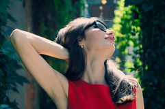 The woman in sunglasses Stock Photo