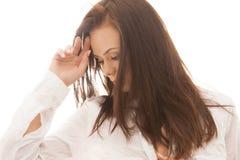 Woman in sunlight Stock Photo