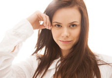 Woman in sunlight Royalty Free Stock Photography