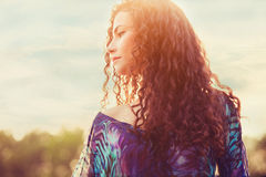 Woman sunlight portrait Stock Photography