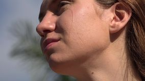 Woman on Sunny Day stock footage