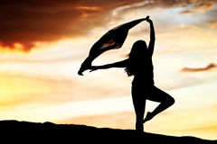 Woman Sunset Dancer Royalty Free Stock Photo