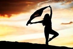 Woman Sunset Dancer Royalty Free Stock Photo