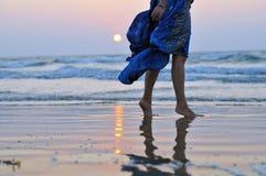 Woman at sunset Royalty Free Stock Photo