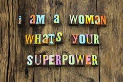 Woman super power female respect girl letterpress