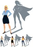 Woman Superhero Concept Stock Images