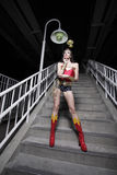 Woman in a superhero costume Stock Photos