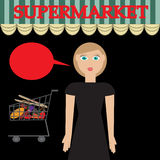 Woman in supermarket Royalty Free Stock Images