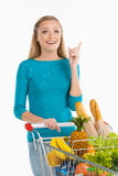 Woman in supermarket. Royalty Free Stock Photography