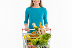 Woman in supermarket. Stock Photography