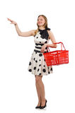 The woman in supermarket shopping concept Royalty Free Stock Photography