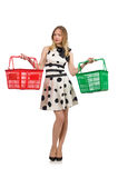 The woman in supermarket shopping concept Stock Photography