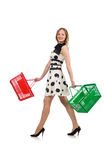 The woman in supermarket shopping concept Royalty Free Stock Images